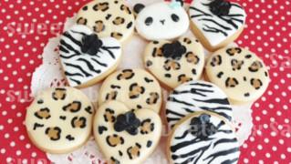 アニマルパンダちゃんのアイシングクッキー