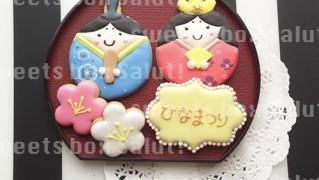 ひな祭りのアイシングクッキー