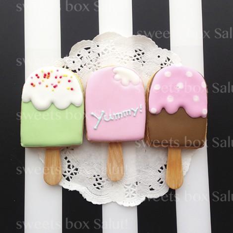 アイスクリームのアイシングクッキー2