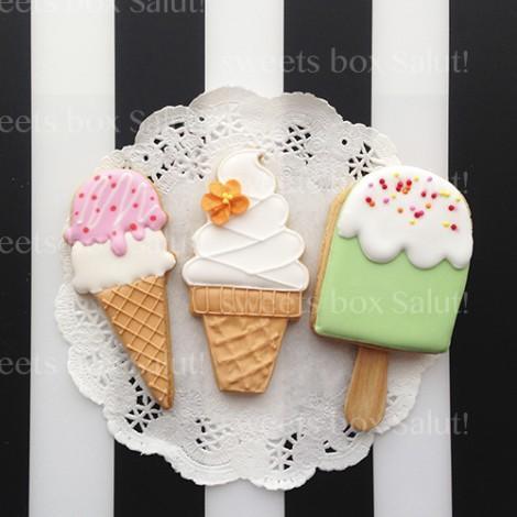 アイスクリームのアイシングクッキー4