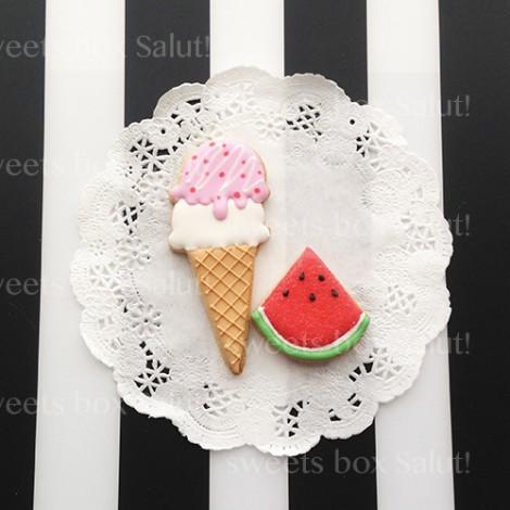 アイスクリームのアイシングクッキー5