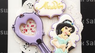 「アラジン」ジャスミンのアイシングクッキー