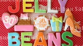 JELLY BEANSさま30周年のアイシングクッキー