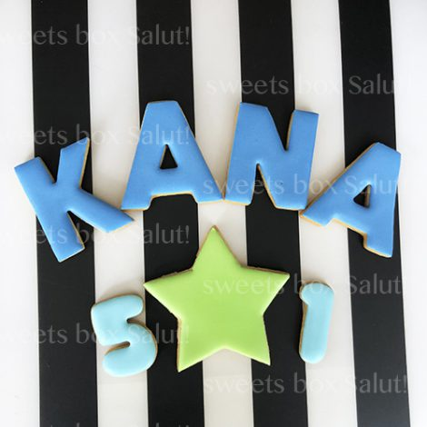 アルファベット&数字のアイシングクッキーセット2