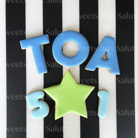 アルファベット&数字のアイシングクッキーセット3