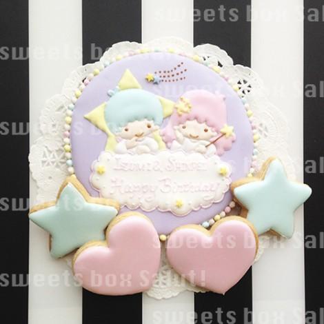 キキララのお誕生日用アイシングクッキー