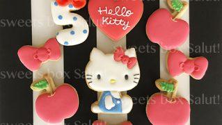 Hello Kitty / ハローキティ の誕生日用アイシングクッキー