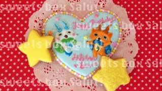 「妖怪ウォッチ」コマさん&コマじろうの誕生日アイシングクッキー