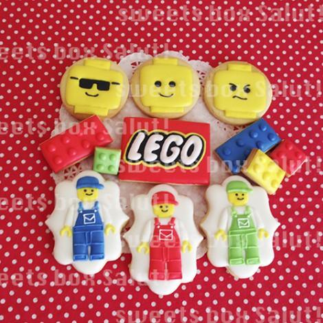レゴブロックのアイシングクッキー