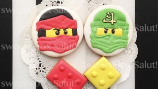 レゴ ニンジャゴーのアイシングクッキー