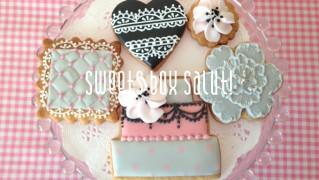 gray&pinkなアイシングクッキー【lesson】