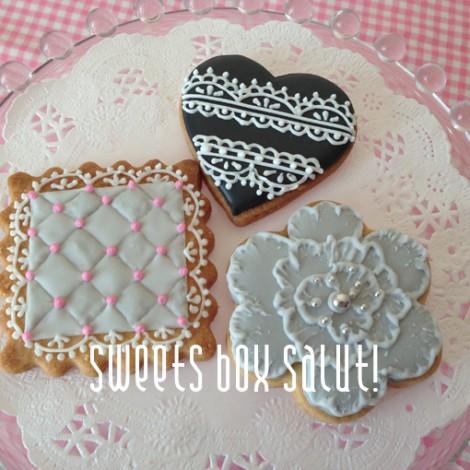 gray&pinkなアイシングクッキー【lesson】1