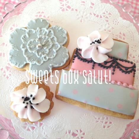 gray&pinkなアイシングクッキー【lesson】2