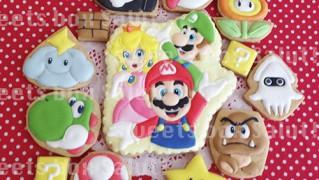 スーパーマリオと仲間たちのアイシングクッキー