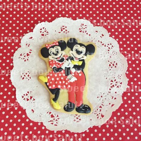 ミッキー&ミニーとダッフィー&シェリーメイのお誕生日用アイシングクッキー1