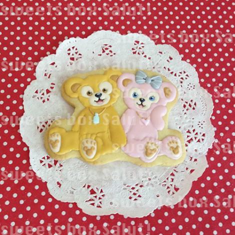 ミッキー&ミニーとダッフィー&シェリーメイのお誕生日用アイシングクッキー2