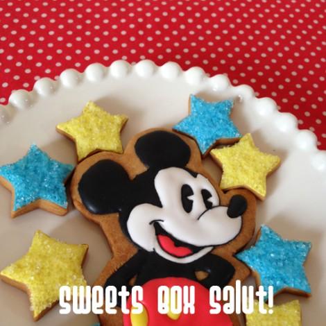 ミッキーマウスのアイシングクッキー1
