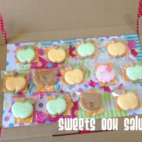 梨とくまのアイシングクッキー3
