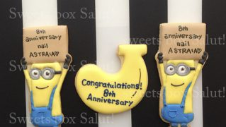 ネイルサロン8周年記念のアイシングクッキー