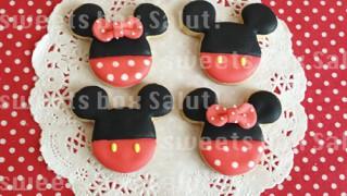 ミッキー&ミニーのアイシングクッキー