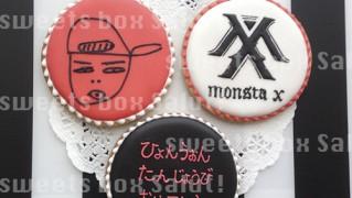 Monsta Xのアイシングクッキー