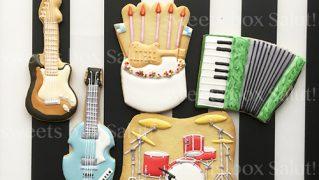 楽器のアイシングクッキー