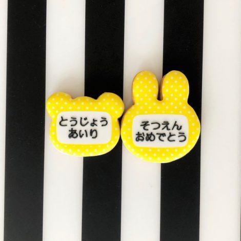 名札型アイシングクッキー_バラバラの名入れ/文字入れが可能2