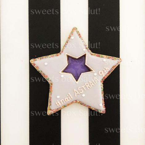ネイルサロン9周年記念のステンドグラスアイシングクッキー1