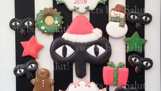 企業ロゴのクリスマスアイシングクッキー