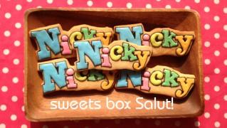 ミュージカル「Nicky」のアイシングクッキー
