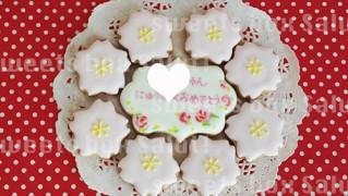 入学祝いプチギフトのアイシングクッキー