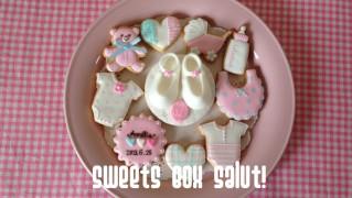 Baby girl誕生祝いのアイシングクッキー