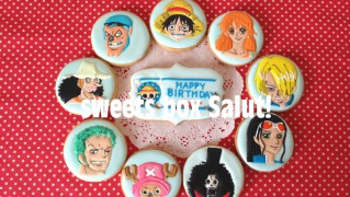 「ワンピース」のお誕生祝いアイシングクッキー