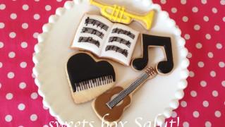 音楽モチーフのアイシングクッキー