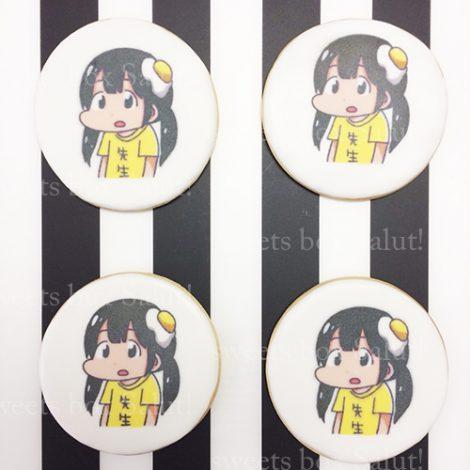 【ヤンマガ2017年No.24】掲載!キャラアイシングクッキー&プリントアイシングクッキー1