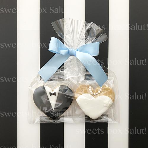 結婚式プチギフト用アイシングクッキー通販(タキシード&ドレス編)