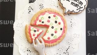 ピザのアイシングクッキー