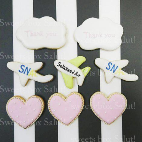 結婚式サンキューギフト用アイシングクッキーセット2