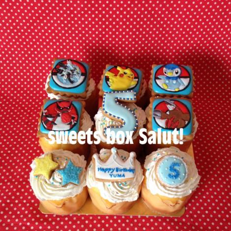 ポケモン トレッタのお誕生日用アイシングカップケーキ