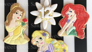 プリンセスとお花のアイシングクッキー