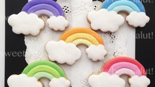 虹のアイシングクッキー