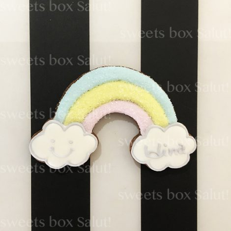名入れOK!虹のアイシングクッキー1