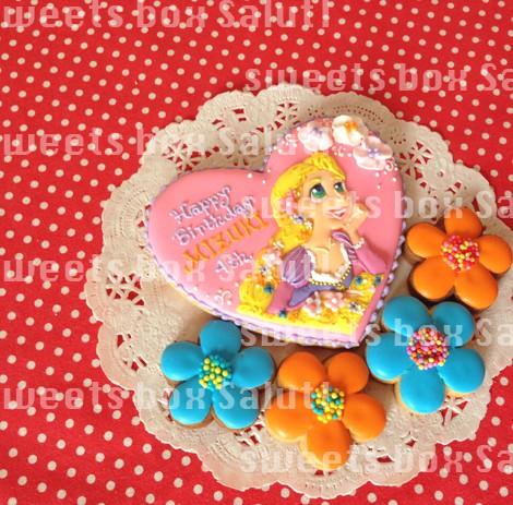 ラプンツェルのお誕生日用アイシングクッキー3