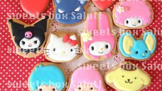 キティちゃん、マイメロちゃん、サンリオキャラのアイシングクッキー