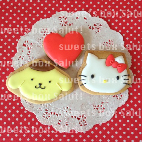 キティちゃん、マイメロちゃん、サンリオキャラのアイシングクッキー3