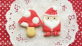 サンタさんときのこのアイシングクッキー