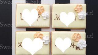 結婚式の席札用アイシングクッキー