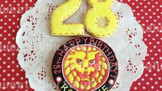 新日本プロレス「ライオンマーク」のお誕生日用アイシングクッキー