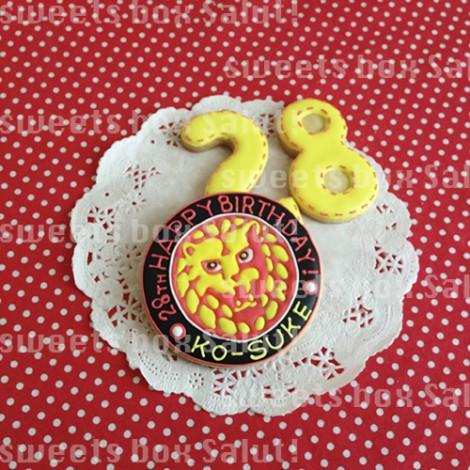 新日本プロレス「ライオンマーク」のお誕生日用アイシングクッキー1