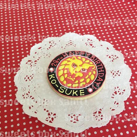 新日本プロレス「ライオンマーク」のお誕生日用アイシングクッキー2